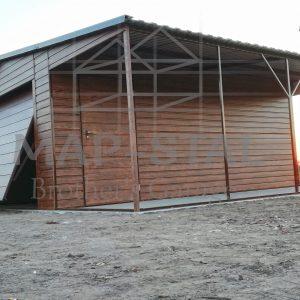 Garaż 4×6 + 2m zadaszenia