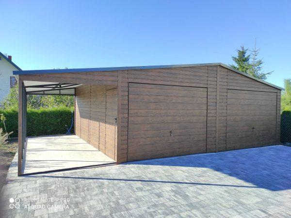 Garaż 7×6,2 plus wiata 2,2×6,2