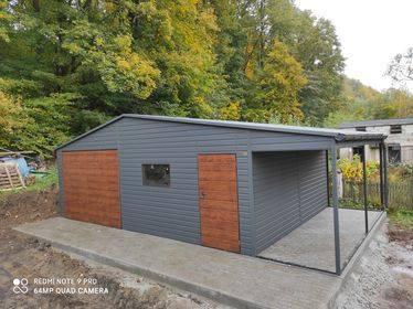 Garaż 7×5 plus wiata 1,5x5m