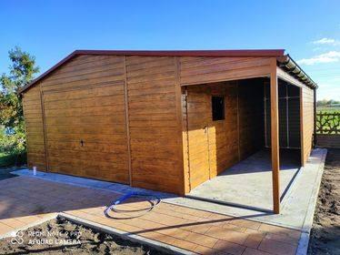 Garaż 5X6plus wiata 1,5x5m
