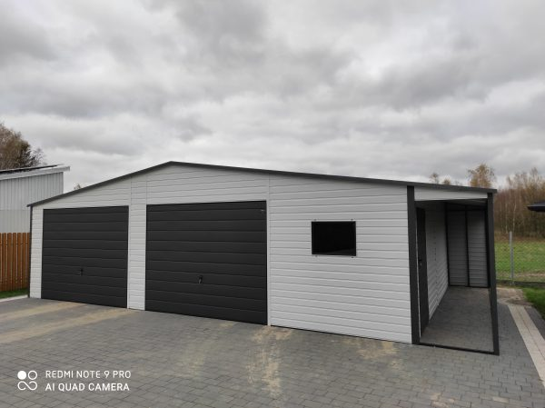 Garaż 9m x 6m plus Wiata 1m x 6m